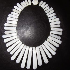 Jewelry - Vintage Ivory Mother Of Pearl Tribal/Boho Necklace